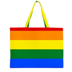 Pride rainbow flag Zipper Large Tote Bag