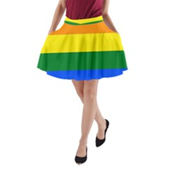 Pride rainbow flag A-Line Pocket Skirt