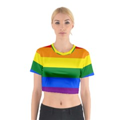 Pride rainbow flag Cotton Crop Top
