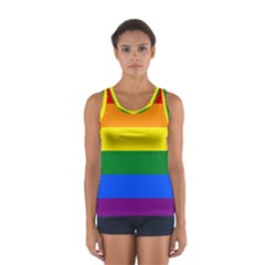 Pride rainbow flag Women s Sport Tank Top