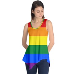 Pride rainbow flag Sleeveless Tunic