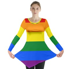 Pride rainbow flag Long Sleeve Tunic