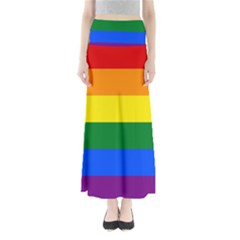Pride rainbow flag Full Length Maxi Skirt