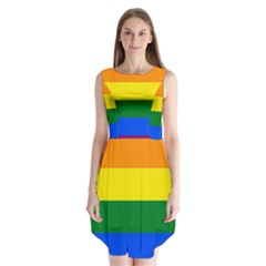 Pride rainbow flag Sleeveless Chiffon Dress