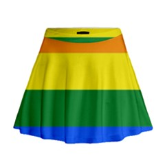 Pride rainbow flag Mini Flare Skirt