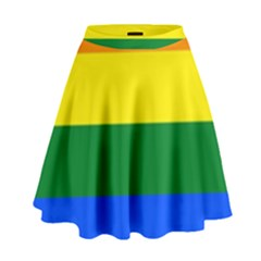 Pride rainbow flag High Waist Skirt
