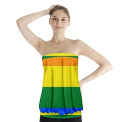 Pride rainbow flag Strapless Top