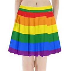 Pride rainbow flag Pleated Mini Skirt