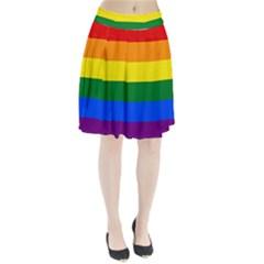 Pride rainbow flag Pleated Skirt