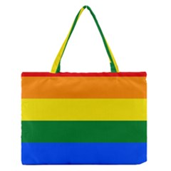 Pride rainbow flag Medium Zipper Tote Bag