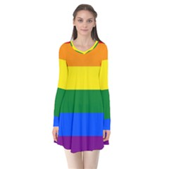 Pride rainbow flag Flare Dress