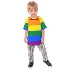 Pride rainbow flag Kids Raglan Tee