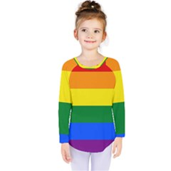 Pride rainbow flag Kids  Long Sleeve Tee