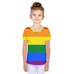 Pride rainbow flag Kids  One Piece Tee