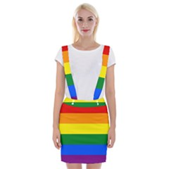 Pride rainbow flag Braces Suspender Skirt