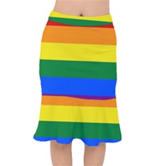 Pride rainbow flag Mermaid Skirt