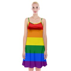 Pride rainbow flag Spaghetti Strap Velvet Dress
