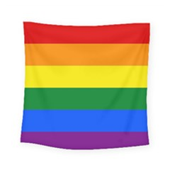 Pride rainbow flag Square Tapestry (Small)