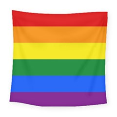 Pride rainbow flag Square Tapestry (Large)