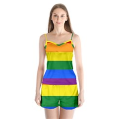 Pride rainbow flag Satin Pajamas Set