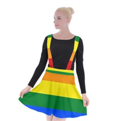Pride rainbow flag Suspender Skater Skirt