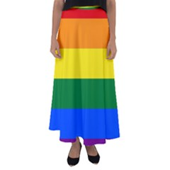 Pride rainbow flag Flared Maxi Skirt