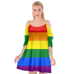 Pride rainbow flag Cutout Spaghetti Strap Chiffon Dress