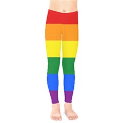 Pride rainbow flag Kids  Leggings