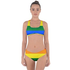 Pride rainbow flag Criss Cross Bikini Set
