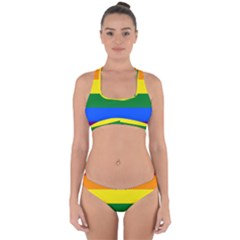 Pride rainbow flag Cross Back Hipster Bikini Set