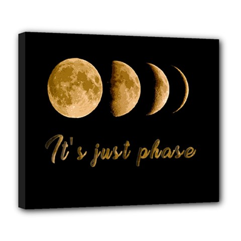 Moon phases  Deluxe Canvas 24  x 20