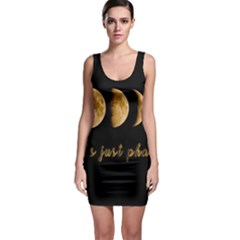 Moon phases  Sleeveless Bodycon Dress