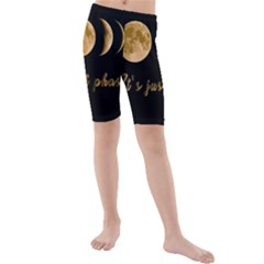 Moon phases  Kids  Mid Length Swim Shorts