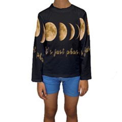 Moon phases  Kids  Long Sleeve Swimwear