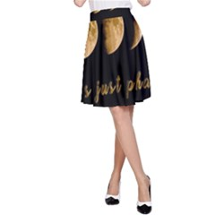 Moon phases  A-Line Skirt