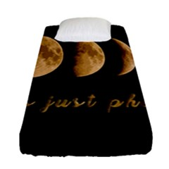Moon phases  Fitted Sheet (Single Size)