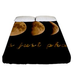 Moon phases  Fitted Sheet (King Size)
