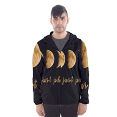 Moon phases  Hooded Wind Breaker (Men)