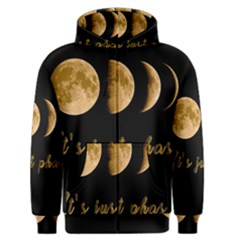 Moon phases  Men s Zipper Hoodie