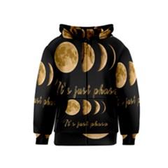 Moon phases  Kids  Zipper Hoodie