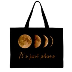 Moon phases  Zipper Mini Tote Bag