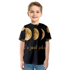 Moon phases  Kids  Sport Mesh Tee
