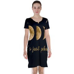 Moon phases  Short Sleeve Nightdress