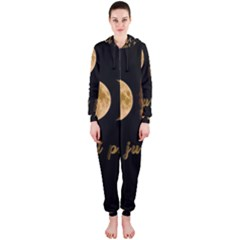 Moon phases  Hooded Jumpsuit (Ladies)