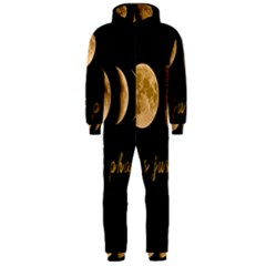 Moon phases  Hooded Jumpsuit (Men)
