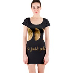 Moon phases  Short Sleeve Bodycon Dress