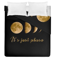 Moon phases  Duvet Cover Double Side (Queen Size)