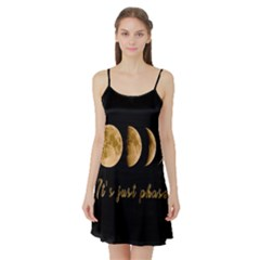 Moon phases  Satin Night Slip