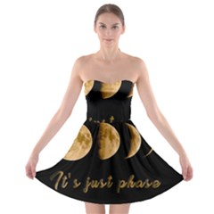 Moon phases  Strapless Bra Top Dress