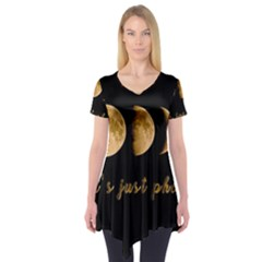 Moon phases  Short Sleeve Tunic